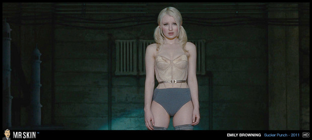 Emily Browning in little bustier