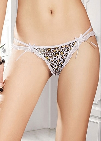 Sexy Leopard Pure Cotton Thong This thong is made of comfortable cotton. Hot and sexy.Waist: 66-90cm.