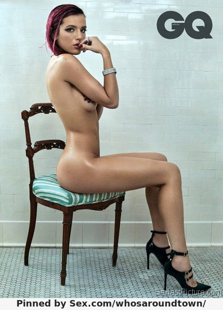 Bella Thorne modelling fully nude for GQ