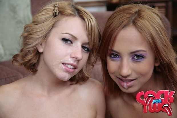 Lexi and Veronique got their prize, a face full of cum. All for a job well done at sucking, blowing and massaging that big cock!