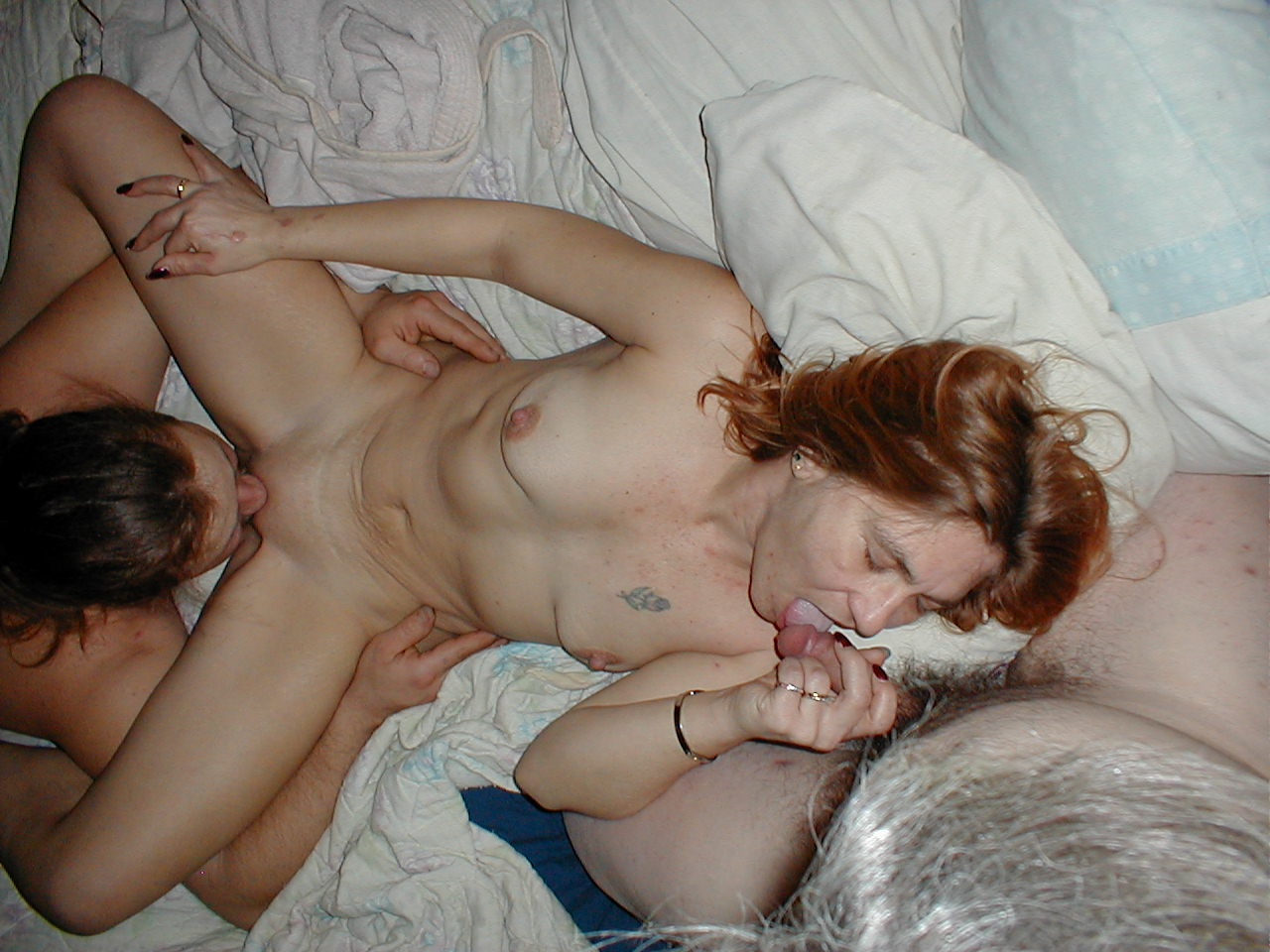 Wife with my friend licking her while she sucks me