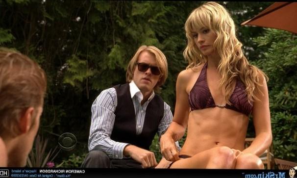 Cameron Richardson in little bikini top