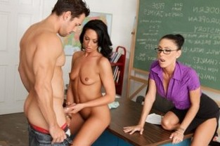 Jessica Jaymes, Johnny Castle & Tiffany Brookes in My First Sex Teacher - Naughty America