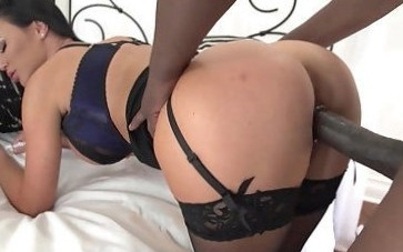 Milf in black lingerie, roughly fucked and made to go for