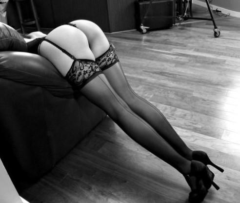 #garters #stockings #heels #bw