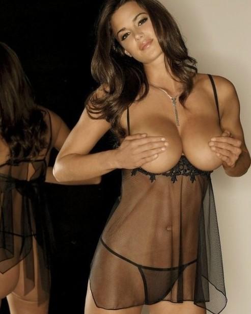 Sheer Nightie | Sheer black nightie plus sheer black panties....