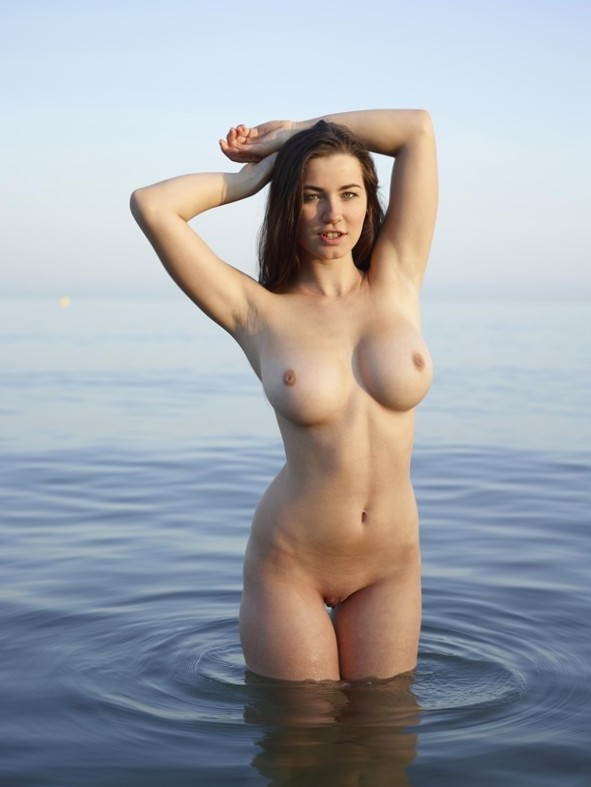 Nice tits in the water.