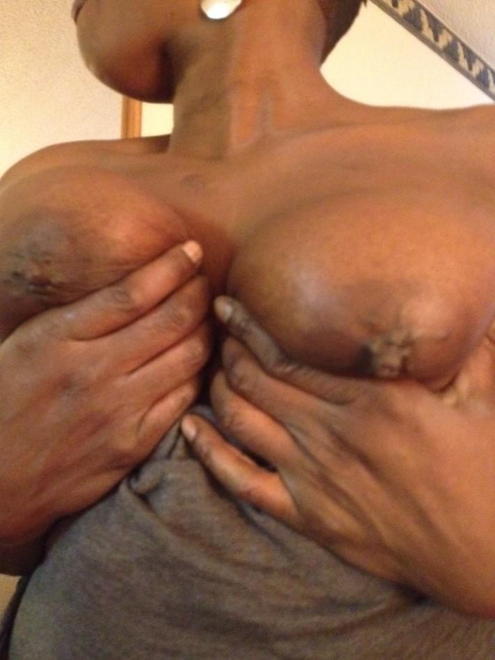 Ebony toys breasts
