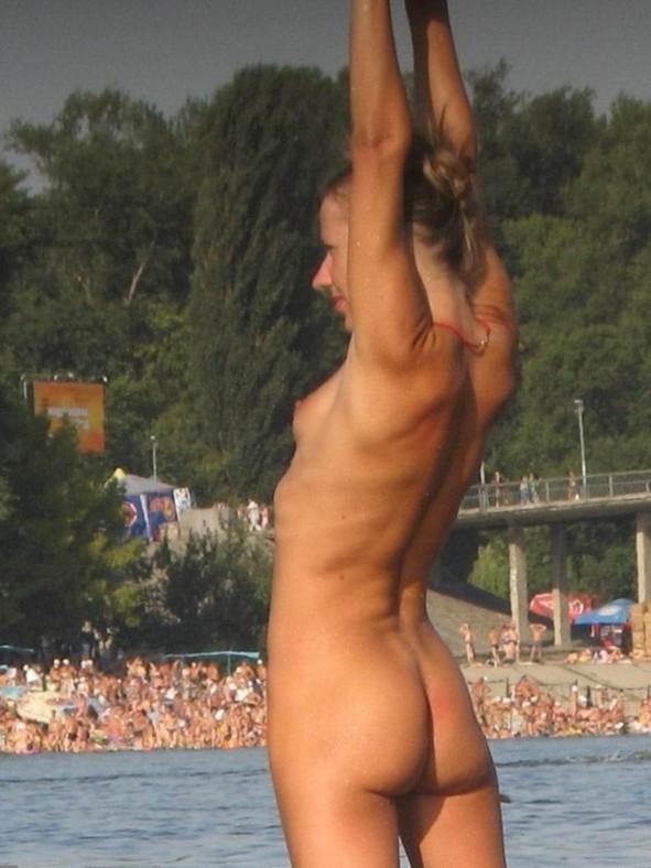 Nude and Beach - Sexy Beach Blonde Teen