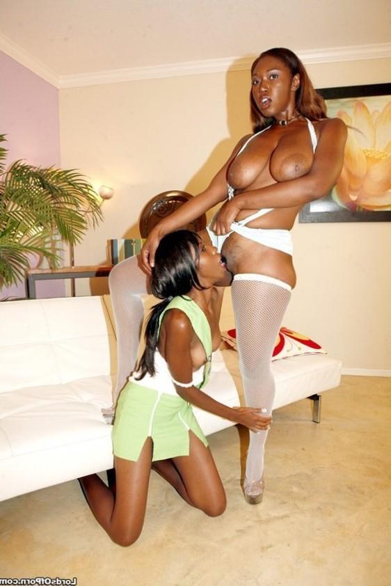 Delotta Brown & Marie Chantilly ebony lesbians